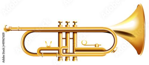 Fotografía A golden trumpet