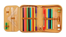 Pencil Case With Various Stationery