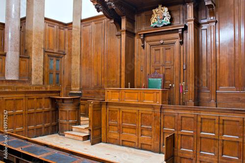 Obraz na plátne View of Crown Court room inside St Georges Hall, Liverpool, UK