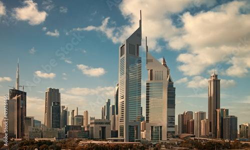 Papiers peints Dubai Skyscrapers of Dubai Skyline