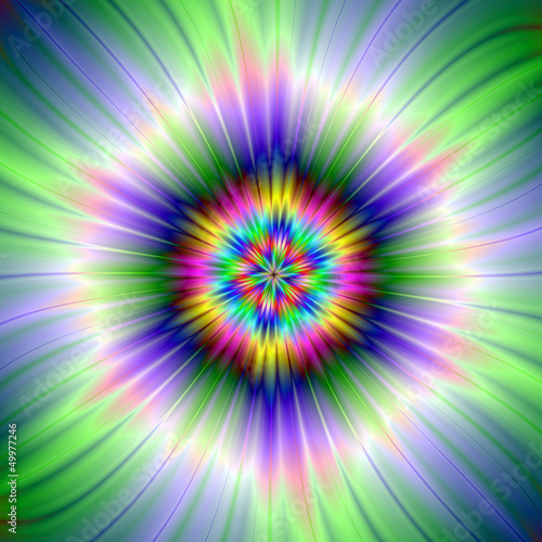Photo Stands Psychedelic Green and Blue Star