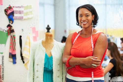 Obraz na plátne  Fashion Designer In Studio