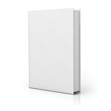 Blank Book Cover Over White Ba...