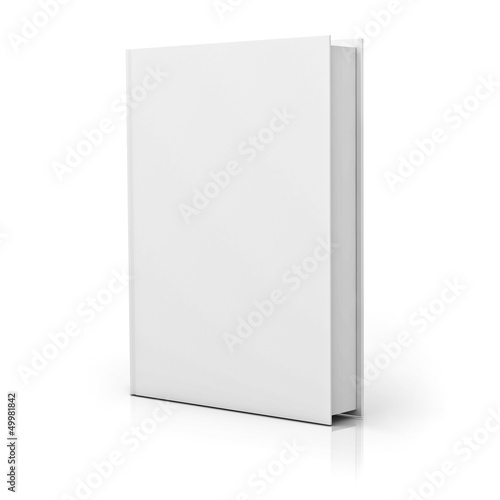 Fotografie, Obraz  Blank book cover over white background