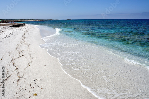 View of Mari Ermi beach, Sardinia, Italy Canvas Print