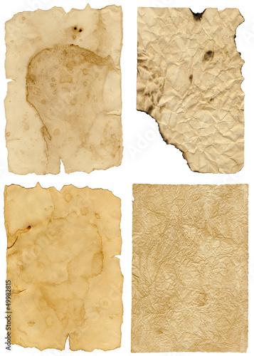 Set altes Papier Canvas Print