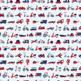 seamless retro transport pattern