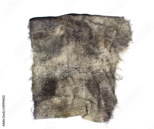 de2d75de39 a dirty rag on a white background - Buy this stock photo and explore ...