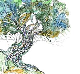 Naklejkaold tree