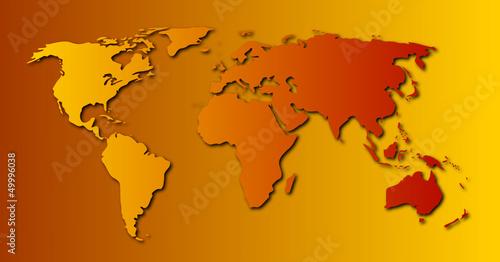 Poster Carte du monde Carte du monde