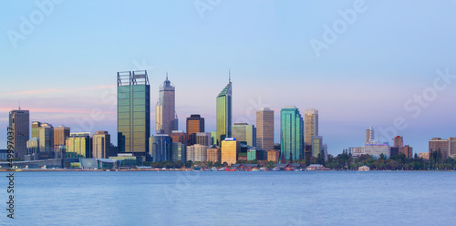 Poster Australie Perth panorama at dusk