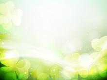 Irish Shamrock Leaves Background For Happy St. Patrick's Day. EP