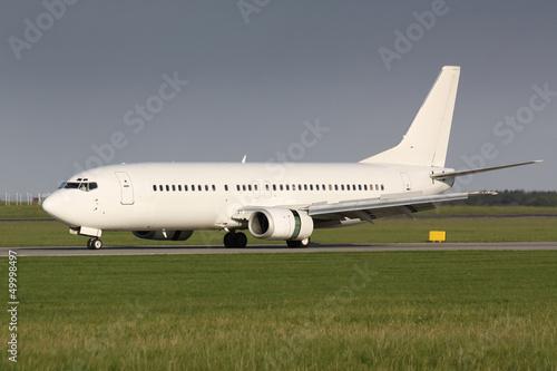 Fotografia  B 737 white