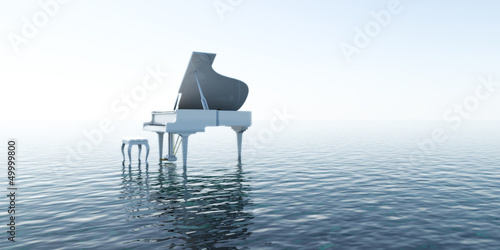 Fotografía Piano, Musik, Sound, Wasser, Meer, Klang