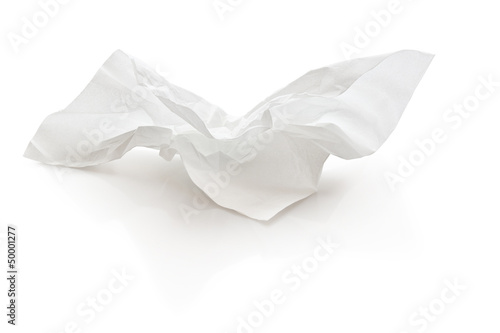 Leinwand Poster crumpled tissue paper with clipping path