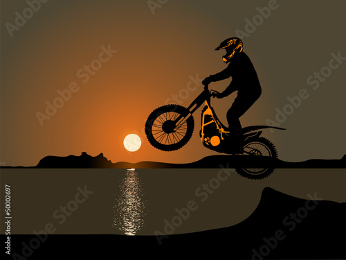 Poster Motocyclette Motocross