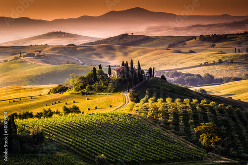 Obraz Krajobraz, Toskania - Włochy - fototapety do salonu