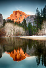 View Of Half Dome Reflected In...