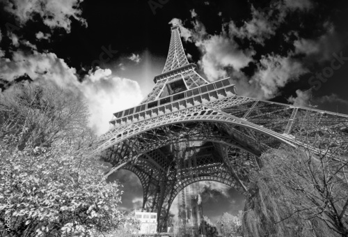 In de dag Eiffeltoren Beautiful colors of Eiffel Tower and Paris Sky