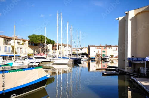 City on the water port Grimaud