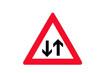 Verkehrszeichen: Gegenverkehr