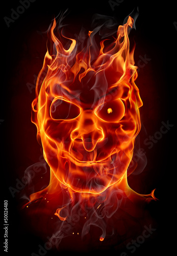 Poster Flamme Fire devil