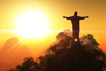 Corcovado Mountain In The Suns...