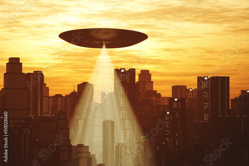 Photo  Ufo Invasion over Metropolis