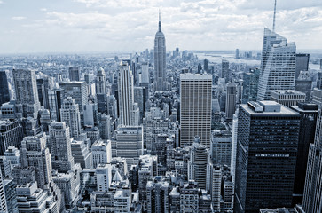Abstract view from the height to Manhattan