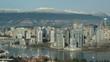 Vancouver skyline with Granville Bridge.