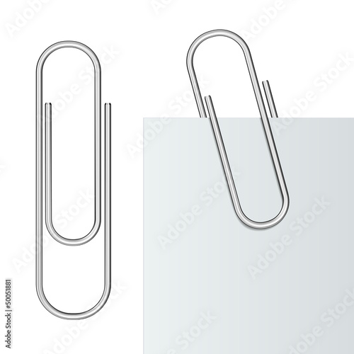 Photo  Metal paper clip
