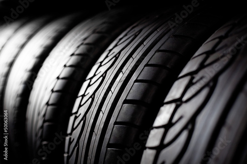 Tire stack background Wallpaper Mural