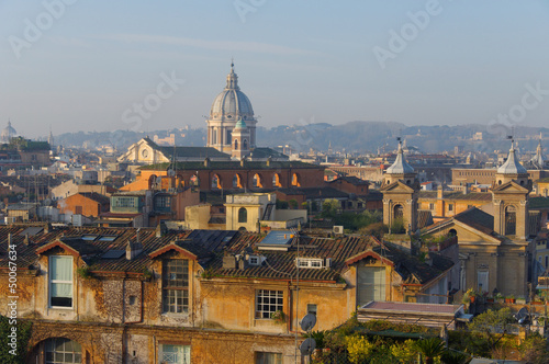 Fotografie, Obraz  Panoramica Roma Pincio