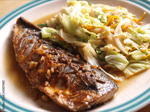 Photo  Grilled fish japanese style