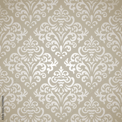 plakat Damask seamless pattern
