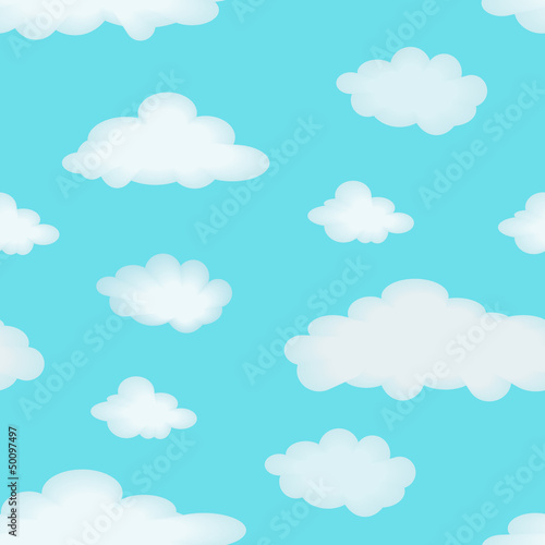 Foto op Canvas Hemel Cloudy background