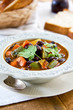 Bean with zucchini and carrot soup