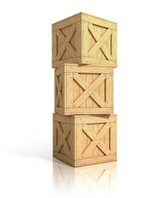 Stack Of Wooden Crate