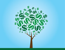 Money Tree With Dollar Signs A...