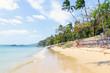 Sandy beach on the ocean in Thailand
