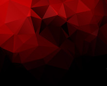 Red Black Mosaic  Background Vector Eps 10