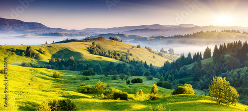 Deurstickers Landschappen mountains landscape