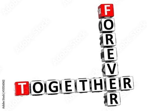 Fotografie, Obraz  3D Forever Together Crossword