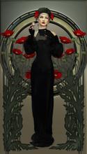 Victorian Beauty In Black