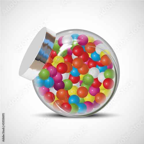Fotografie, Obraz  candy chewing gum bottle