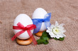 Pair of eggs in bows