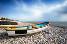 Boats On Beach At Budleigh Sal...