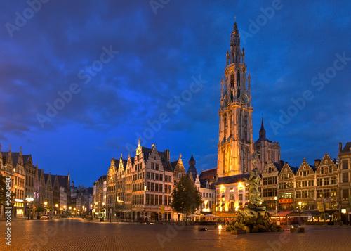 Foto op Plexiglas Antwerpen Antwerpen Panorama