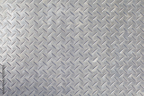 Foto op Canvas Metal gray colored diamond plate background