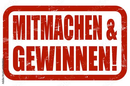 Fotografía  Grunge Stempel rot MITMACHEN & GEWINNEN!